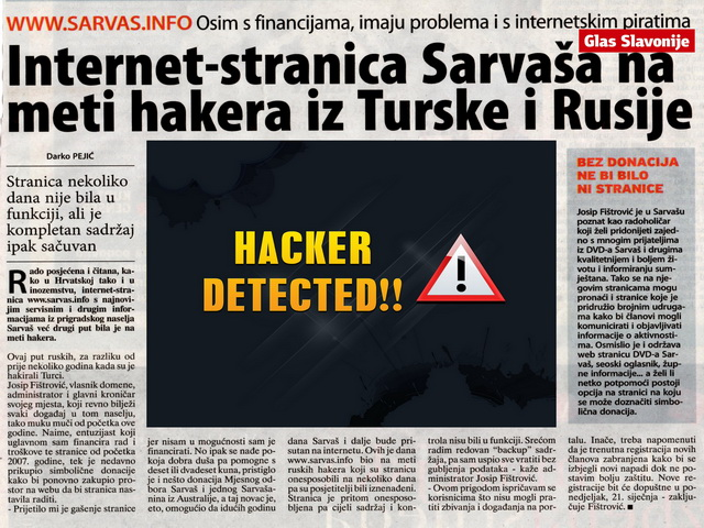 Photo of Internet-stranica Sarvaša na meti hakera iz Turske i Rusije