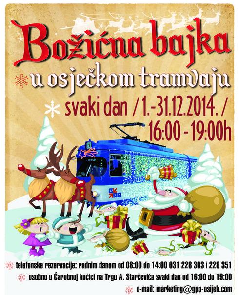 Photo of Božićni tramvaj – božićna bajka u osječkom tramvaju 2014.