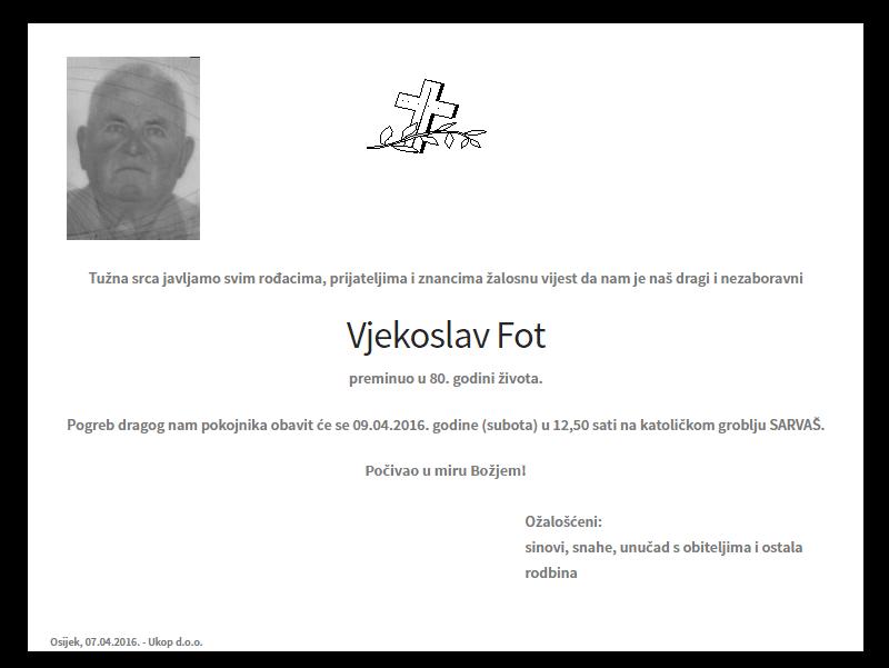 """Photo of POSLJEDNJI POZDRAV """"VJEKOSLAV FOT"""""""
