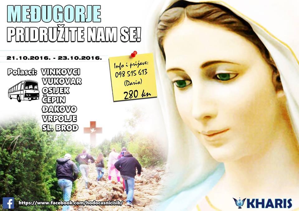 Photo of SARVAŠ:Hodočašće u MEĐUGORJE 21.10. – 23.10.2016.
