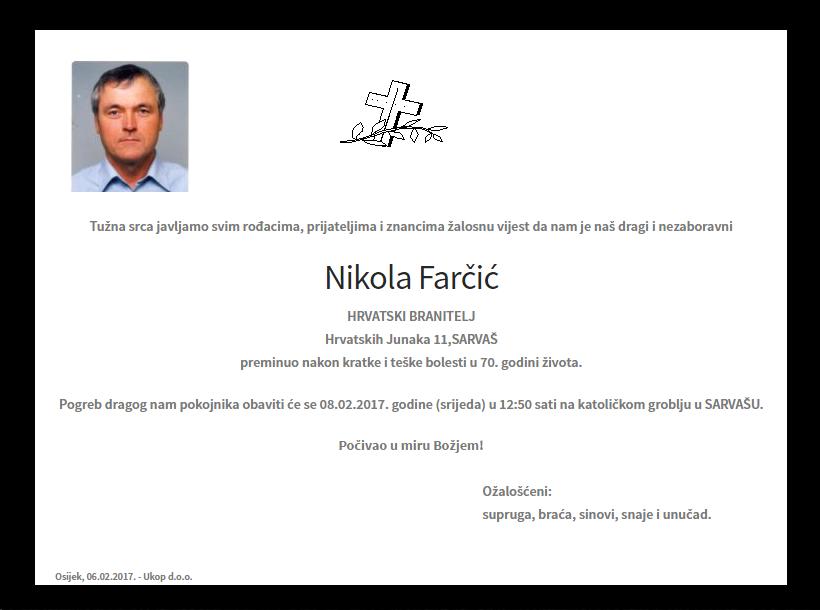"Photo of POSLJEDNJI POZDRAV "" NIKOLA FARČIĆ """