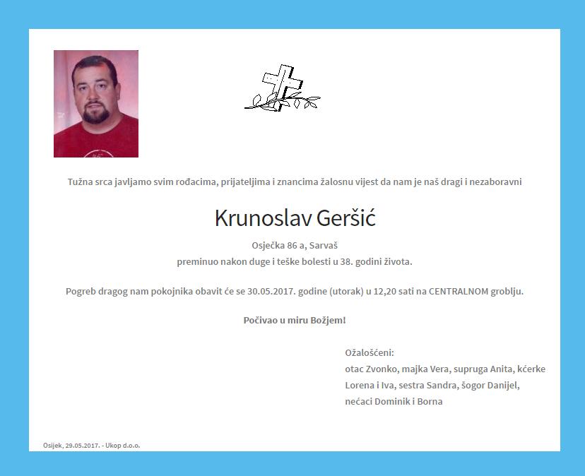 """Photo of POSLJEDNJI POZDRAV """"KRUNOSLAV GERŠIĆ """""""